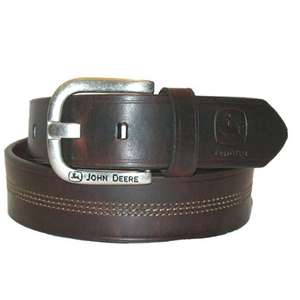 Center Stitch Leather Belt
