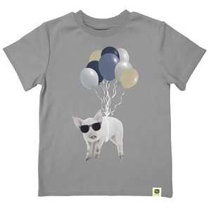 Do Good Today Pig and Balloons Tee