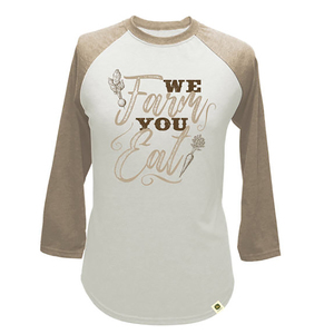 Women's Ivory We Farm You Eat Raglan