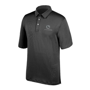 Men's Charcoal Poly Polo