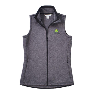 Women's Charcoal Layer Knit Vest S - 2X