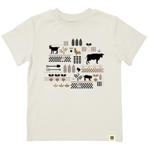 Do Good Today Farm Scene Collage T-Shirt
