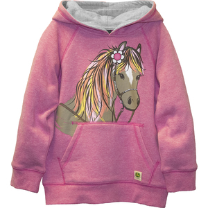 Pony with Flower Fleece Hoodie