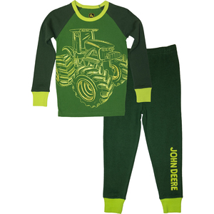 Glow in the Dark Tractor Pajamas