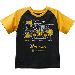 Wheel Loader Raglan T-shirt