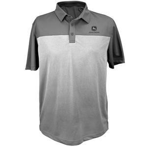Charcoal Two Toned Poly Polo