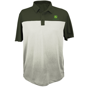 Olive Two Toned Poly Polo