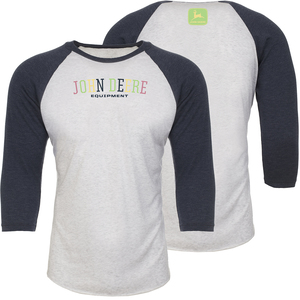 Colorful John Deere 3/4 Sleeve T-Shirt