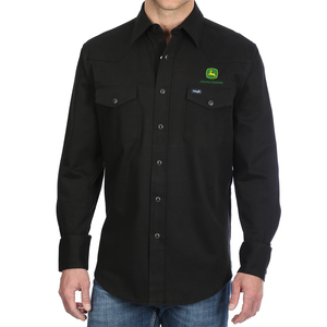 Wrangler Black Comfort Work Shirt