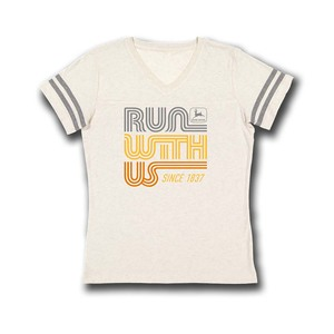Ivory Run with Us T-Shirt