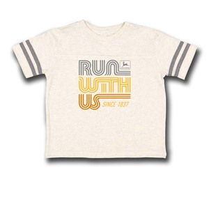 Girl's Ivory Run with Us T-Shirt