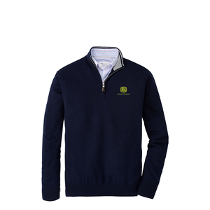 Men's Crown Soft Merino-Silk Quarter-Zip Sweater - Navy