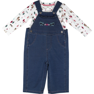 Infant Farm Overalls Set