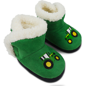 Green Tractor Slippers