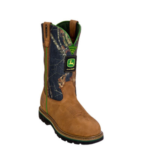 Men's 11 Inch Steel-Toe Wellngton John Deere Work Boots