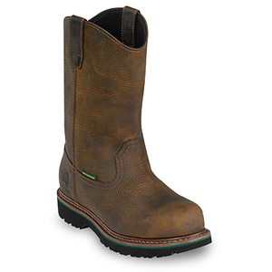 "Men's 10"" Aged Oak Waterproof Pull-On Steel-Toe"