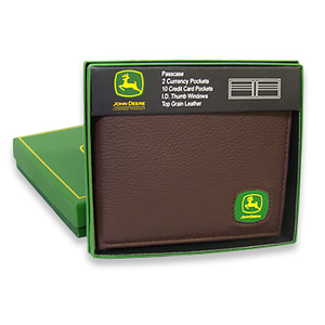 John Deere Bi-fold Wallet with Logo Patch