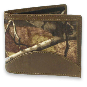 John Deere Bi-Fold Tan and REALTREE Camo Passcase Wallet