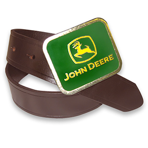 John Deere Boys Buffalo Leather Belt with John Deere Buckle