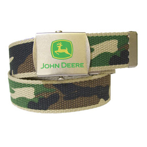 John Deere Boys Canvas Camo Belt