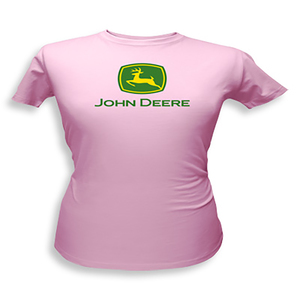 Women's Classic Pink Fitted John Deere T-Shirt