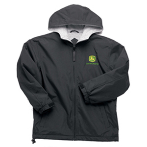 Youth Black Nylon John Deere Jacket