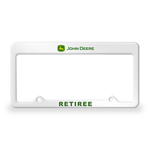 "John Deere ""Retiree"" License Plate Frame"