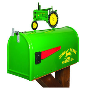 Rural Style Mailbox with Tractor Topper - Model B