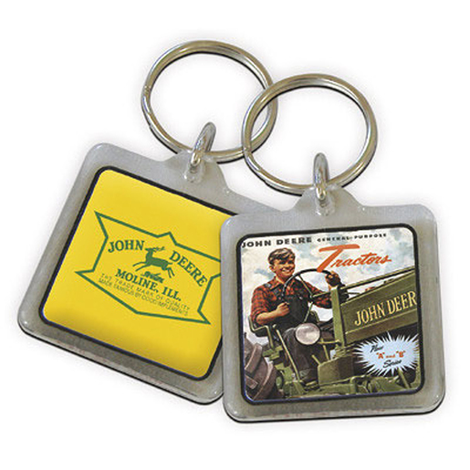 John Deere Logo Picture Key Chain