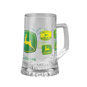 John Deere Historic Logos Glass Mug