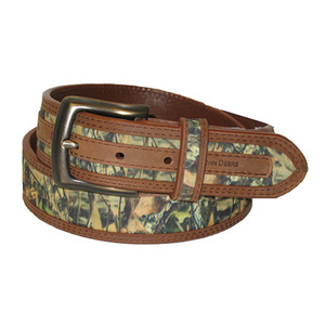 Men's Camo and Leather Belt