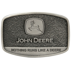 Nothing Runs Like A Deere Fine Pewter Belt Buckle