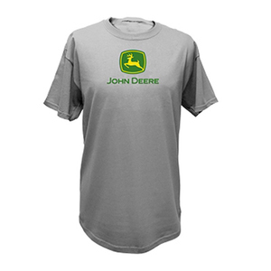 Mens Classic John Deere Short Sleeve Tee, Oxford-color