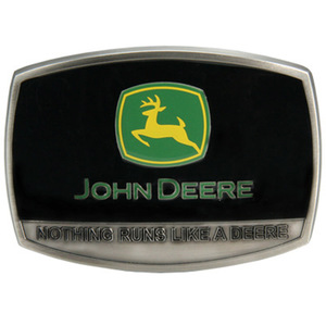 Nothing Runs Like A Deere Enamel Belt Buckle
