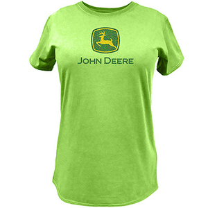 John Deere Women's Apple Green Short Sleeve Trademark T-Shirt