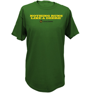 Mens Nothing Runs Like A Deere, Tee in Green