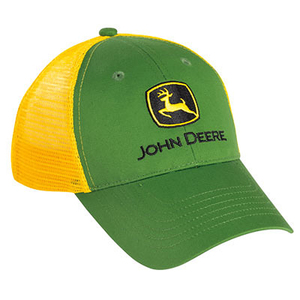 Youth Green And Yellow Mesh Cap