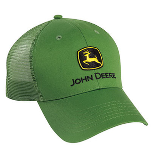 Men's Green Twill and Green Mesh Back Cap