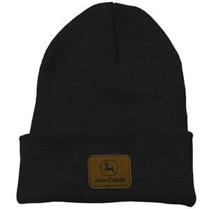 Black Beanie With Logo Patch