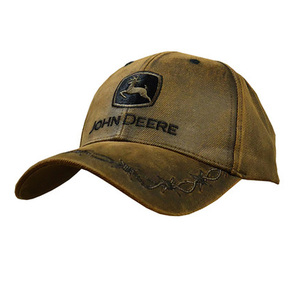 Oilskin Patch Cap with Embroidered Logo Patch
