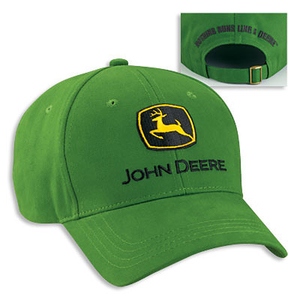 Men's John Deere Green Cap And Logo