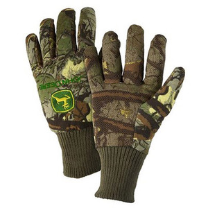 John Deere Men's Light-duty Camo Cotton Grip Glove
