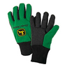 John Deere Men's Light-duty Green Cotton Grip Glove