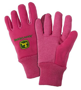 Pink Youth Light-Duty Cotton Grip Glove