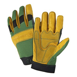John Deere Men's Cowhide Glove Spandex Back
