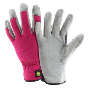 John Deere Ladies Cowhide Glove with Spandex Back