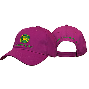 Women's Twill Cap in Fuchsia with Logo