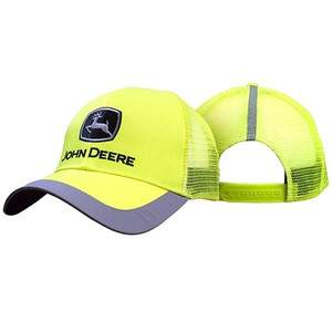 Men's High Visibility Yellow Cap With Reflective Trim