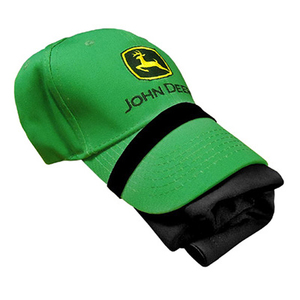 John Deere Men's Green Hat and Black T-Shirt Combo