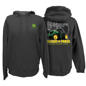 John Deere 'Unleash the Power' Mens Hood Sweatshirt